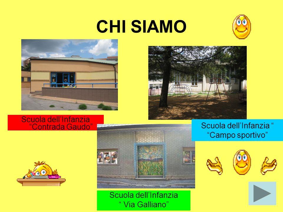 CHI SIAMO Scuola dellInfanzia Contrada Gaudo Scuola dellInfanzia Campo sportivo Scuola dellInfanzia Via Galliano