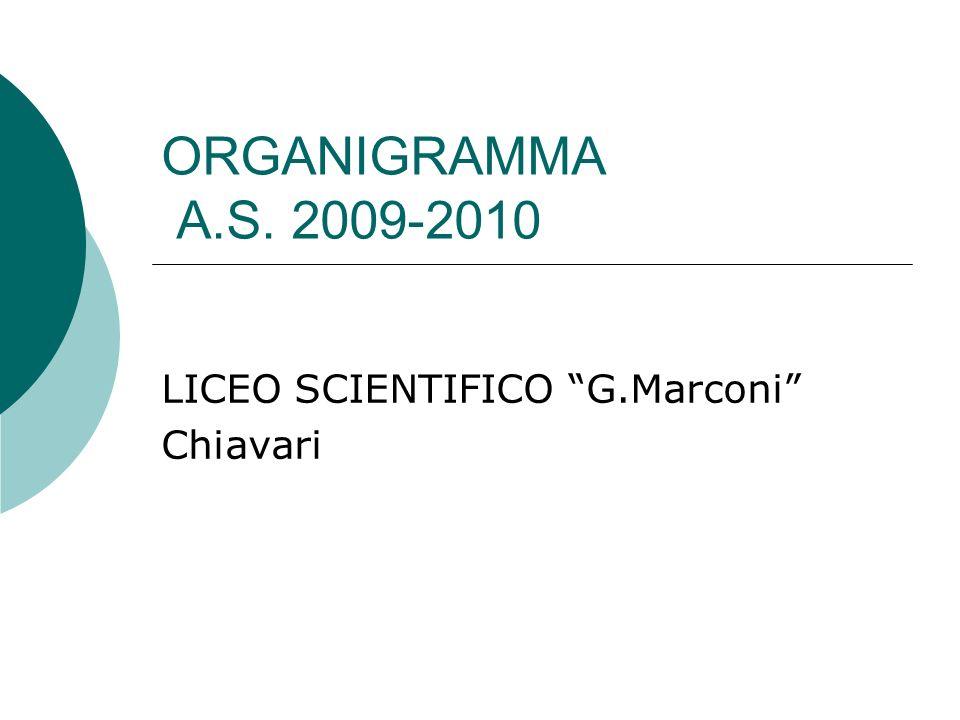 ORGANIGRAMMA A.S. 2009-2010 LICEO SCIENTIFICO G.Marconi Chiavari