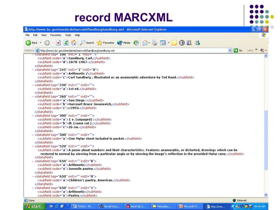 record MARCXML