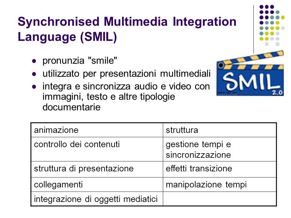 Synchronised Multimedia Integration Language (SMIL) pronunzia