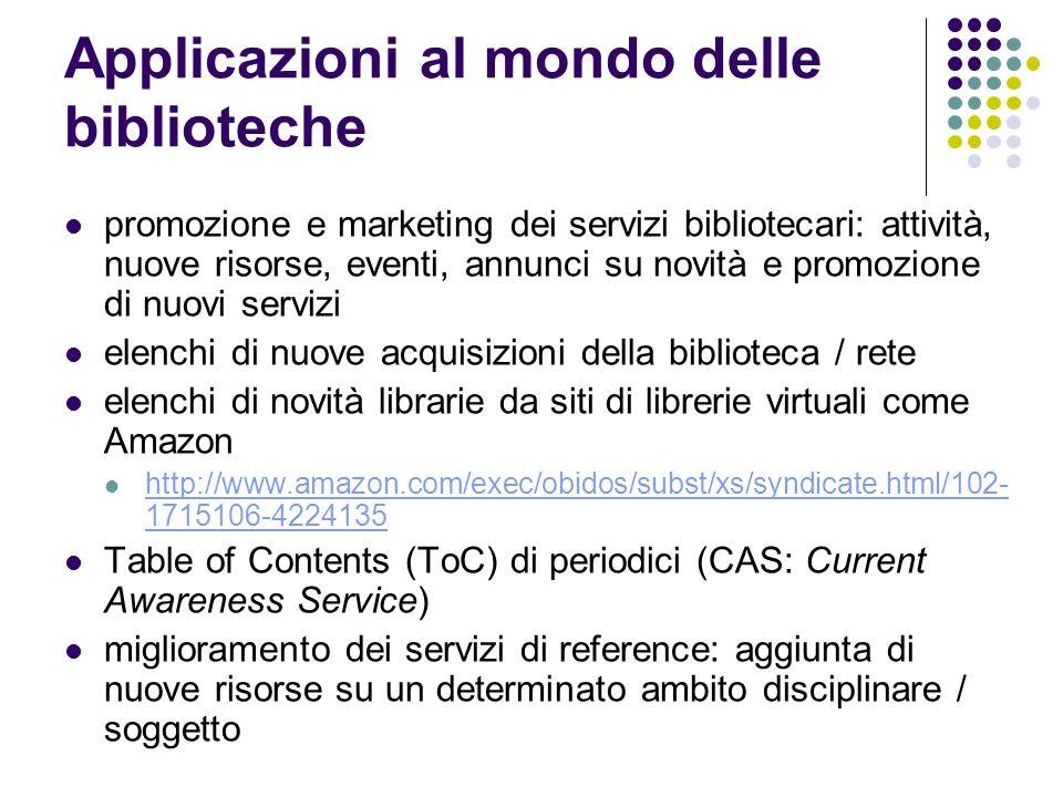 Applicazioni al mondo delle biblioteche promozione e marketing dei servizi bibliotecari: attività, nuove risorse, eventi, annunci su novità e promozio