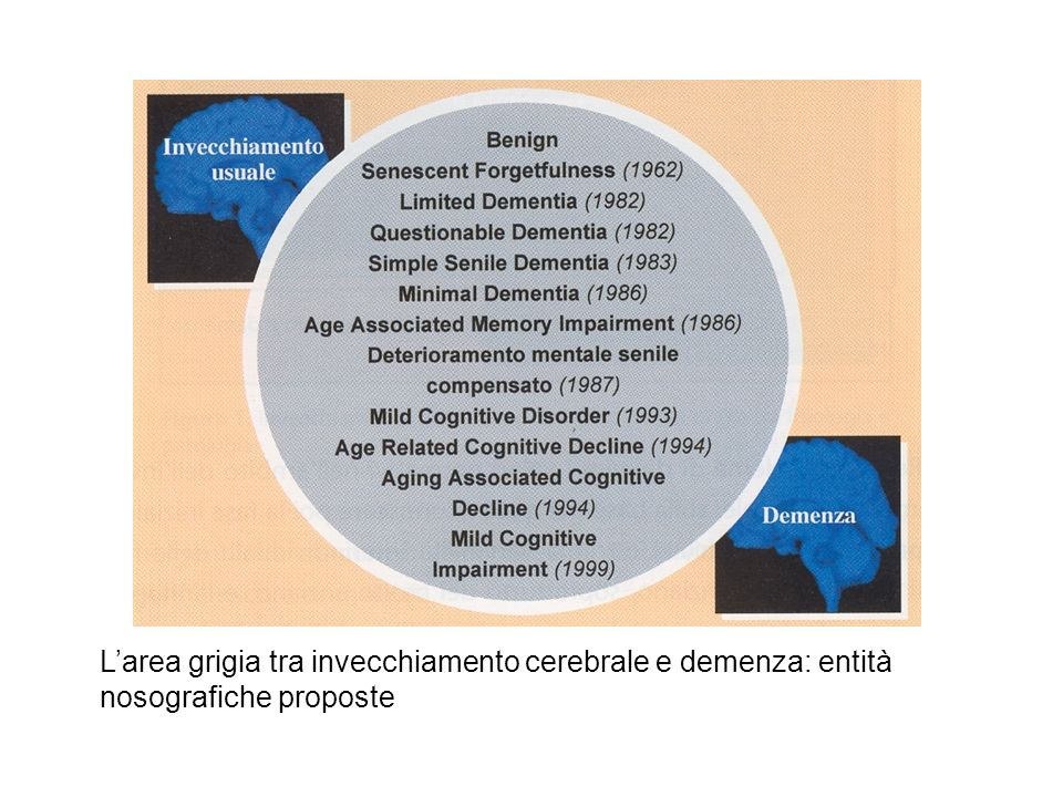 Larea grigia tra invecchiamento cerebrale e demenza: entità nosografiche proposte