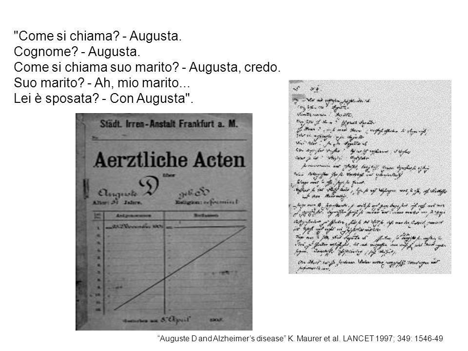 U.O.Alzheimer Presidio Ospedaliero Beata Vergine Consolata Fatebenefratelli nPazienti dementi n.