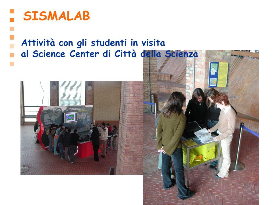 SISMALAB Attività con gli studenti in visita al Science Center di Città della Scienza