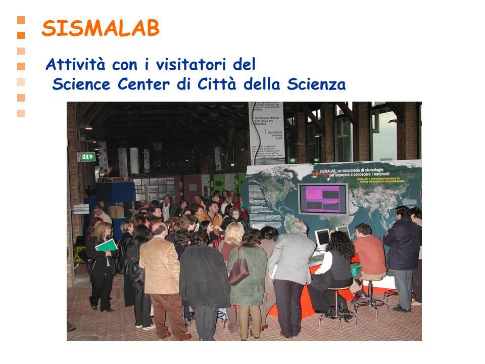 SISMALAB Attività con i visitatori del Science Center di Città della Scienza