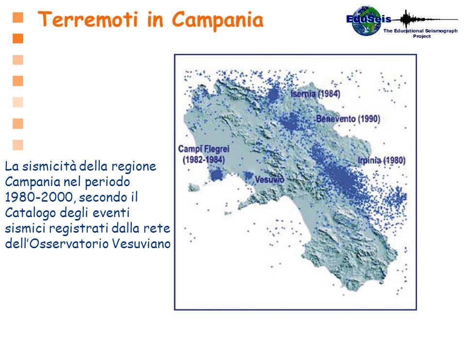Terremoti in Campania La sismicità della regione Campania nel periodo 1980-2000, secondo il Catalogo degli eventi sismici registrati dalla rete dellOs