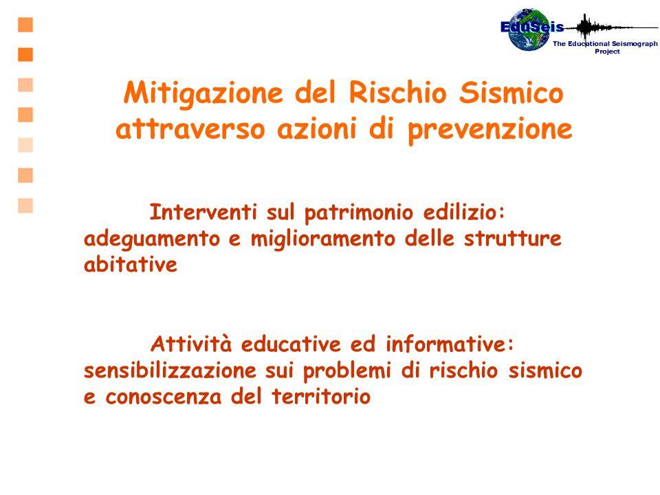 Mitigazione del Rischio Sismico attraverso azioni di prevenzione Interventi sul patrimonio edilizio: adeguamento e miglioramento delle strutture abita