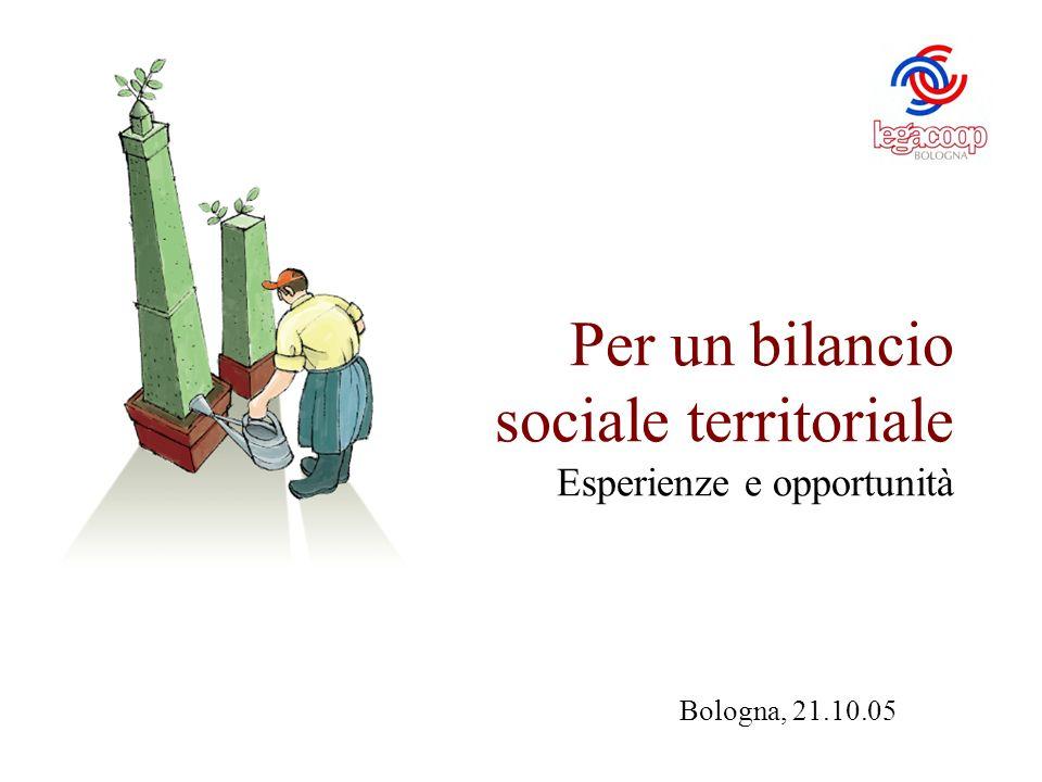 Per un bilancio sociale territoriale Esperienze e opportunità Bologna, 21.10.05
