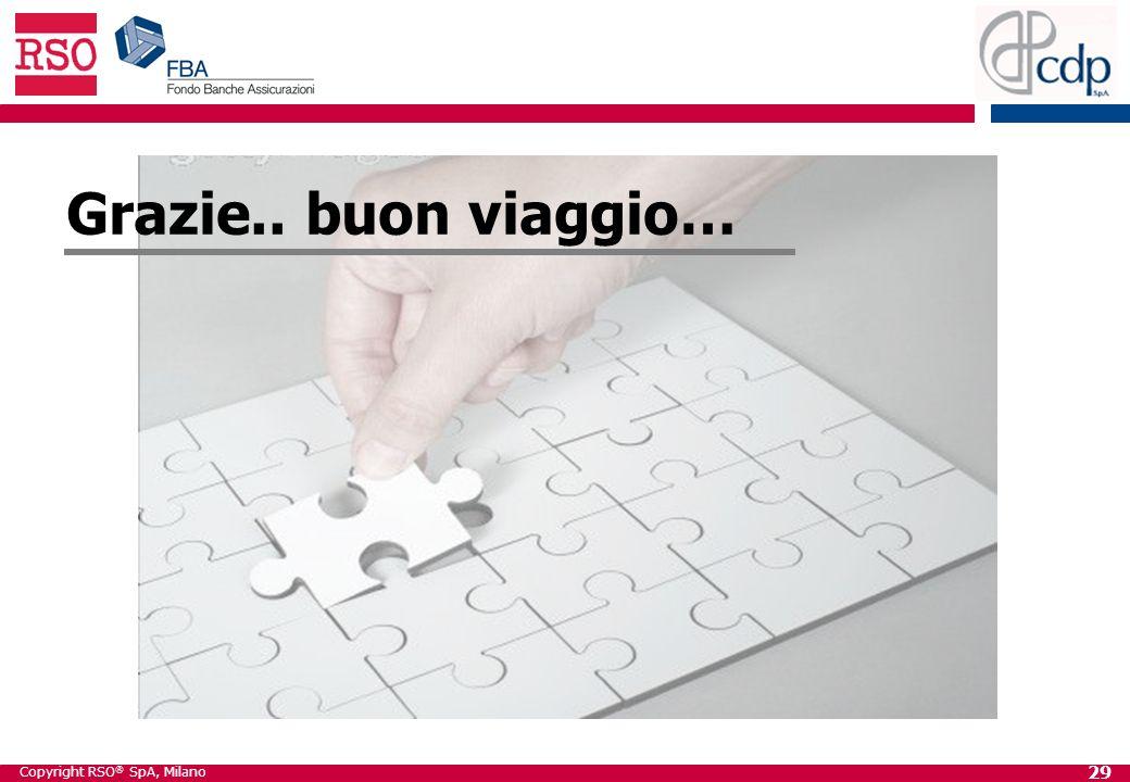 Copyright RSO ® SpA, Milano 29 Grazie.. buon viaggio…