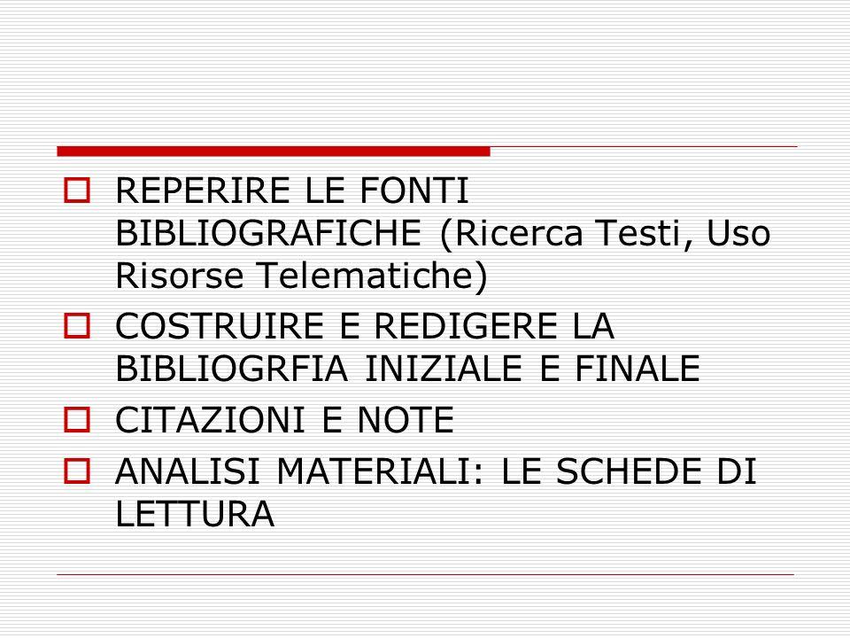 ARTICOLI DI RIVISTE Esempi: ZAMENGO Federico, Sostare nel tempo, in Nuova Secondaria, numero 1, settembre 2010, pp.25-27.