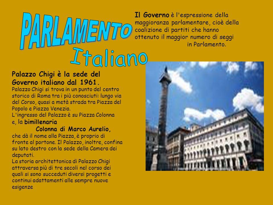 Palazzo Chigi è la sede del Governo italiano dal 1961. Palazzo Chigi si trova in un punto del centro storico di Roma tra i più conosciuti: lungo via d