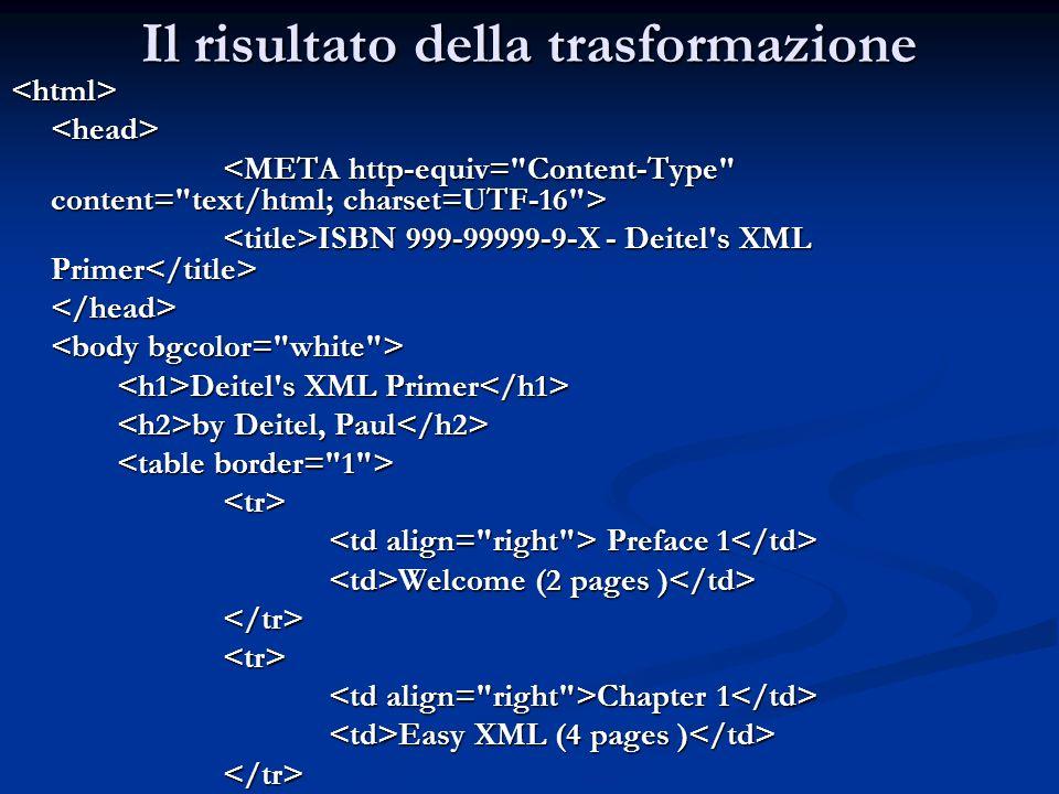 <html><head> ISBN 999-99999-9-X - Deitel's XML Primer ISBN 999-99999-9-X - Deitel's XML Primer </head> Deitel's XML Primer Deitel's XML Primer by Deit