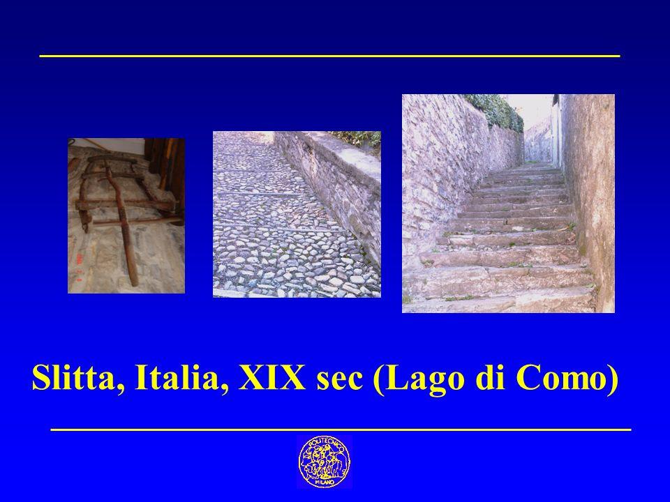Slitta, Italia, XIX sec (Lago di Como)