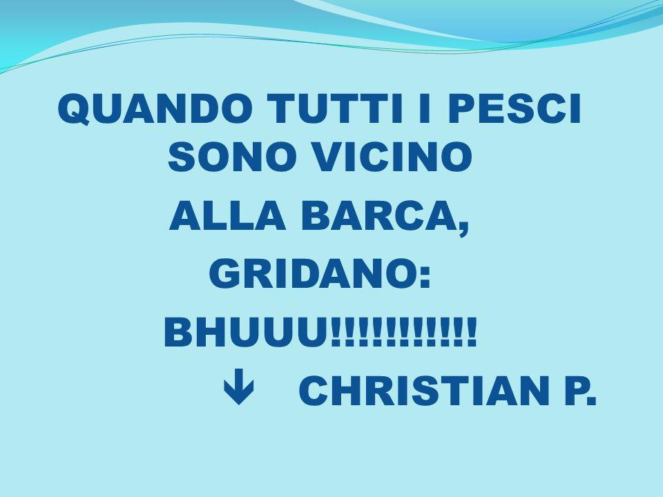 QUANDO TUTTI I PESCI SONO VICINO ALLA BARCA, GRIDANO: BHUUU!!!!!!!!!!! CHRISTIAN P.