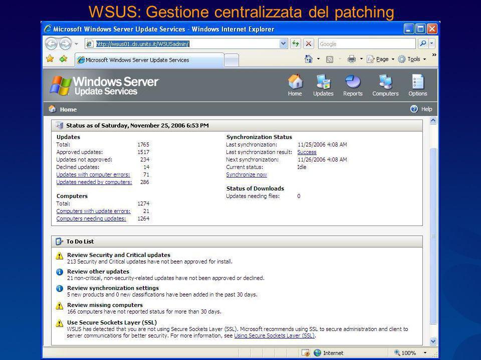 WSUS: Gestione centralizzata del patching