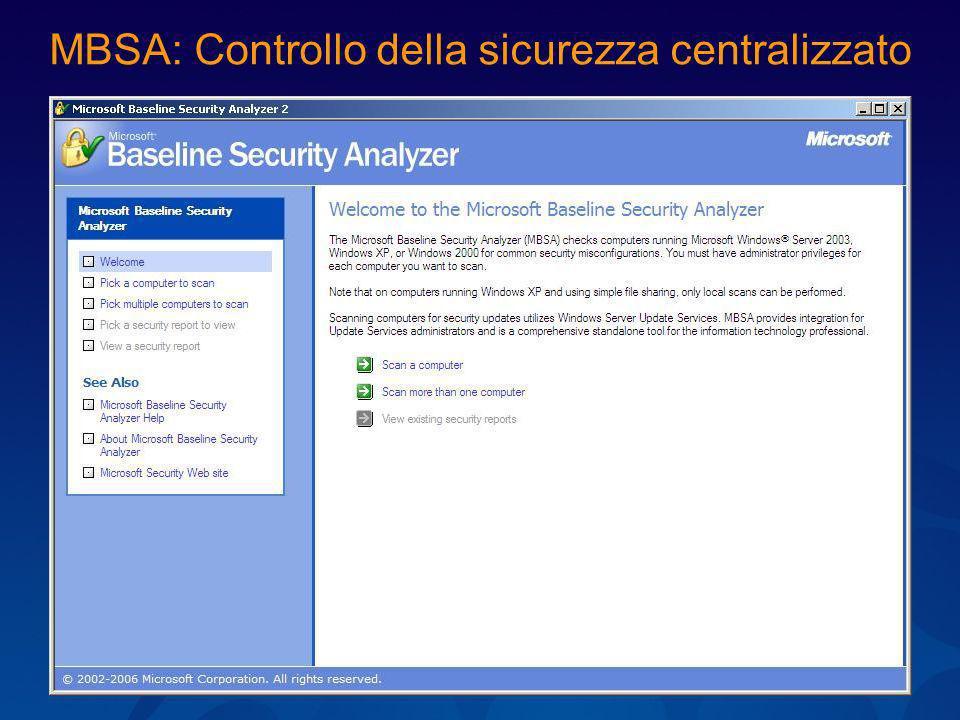 MBSA: Controllo della sicurezza centralizzato