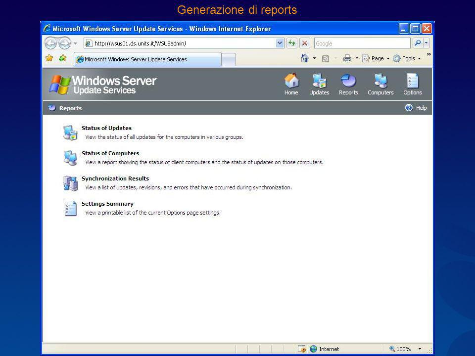 Generazione di reports