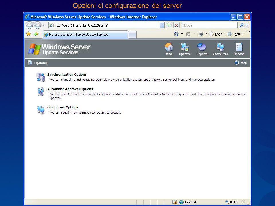 Opzioni di configurazione del server