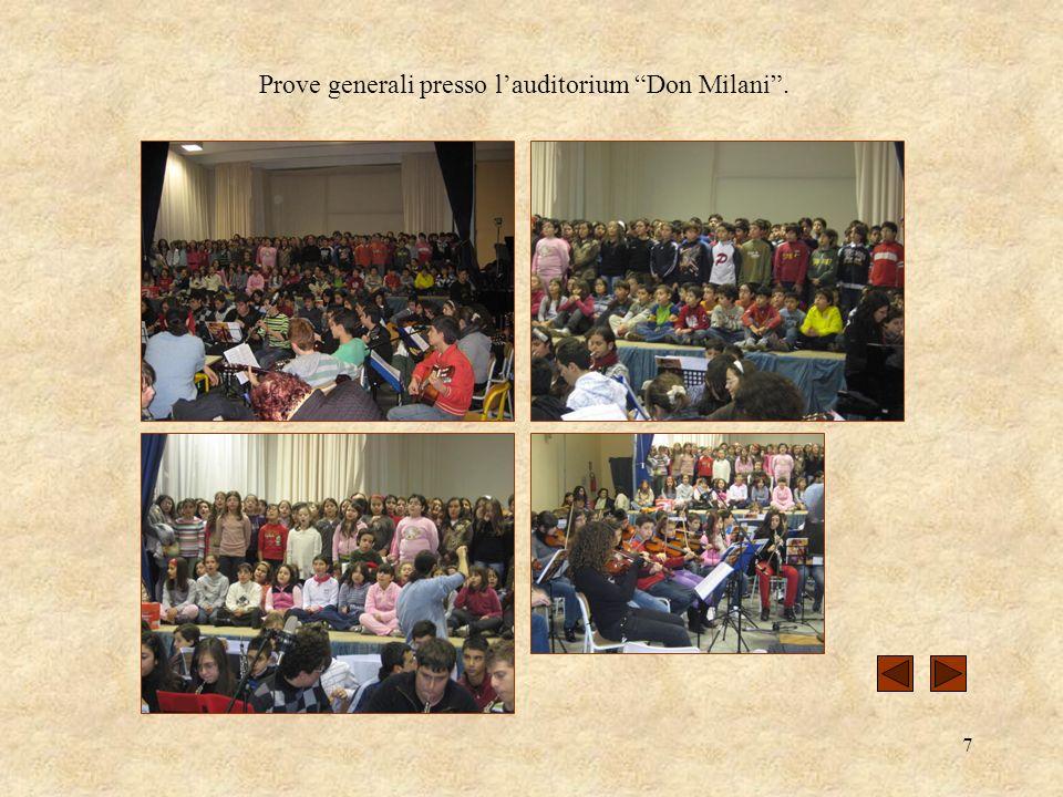 7 Prove generali presso lauditorium Don Milani.