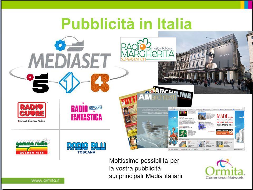 Pubblicità in Italia Diverse tipologie e design di rubinetti e miscelatori Moltissime possibilità per la vostra pubblicità sui principali Media italiani