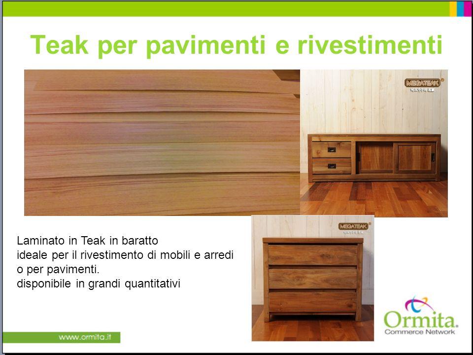 Teak per pavimenti e rivestimenti Laminato in Teak in baratto ideale per il rivestimento di mobili e arredi o per pavimenti.