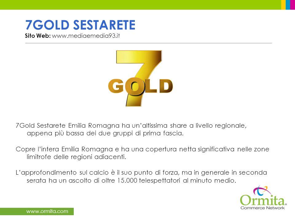 www.ormita.com NUOVARETE Emilia-Romagna Sito Web: www.nuovarete.com NUOVARETE è unemittente televisiva storica nel panorama delle televisioni Emiliano Romagnole.