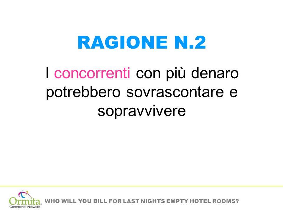WHO WILL YOU BILL FOR LAST NIGHTS EMPTY HOTEL ROOMS? ALTRI VANTAGGI