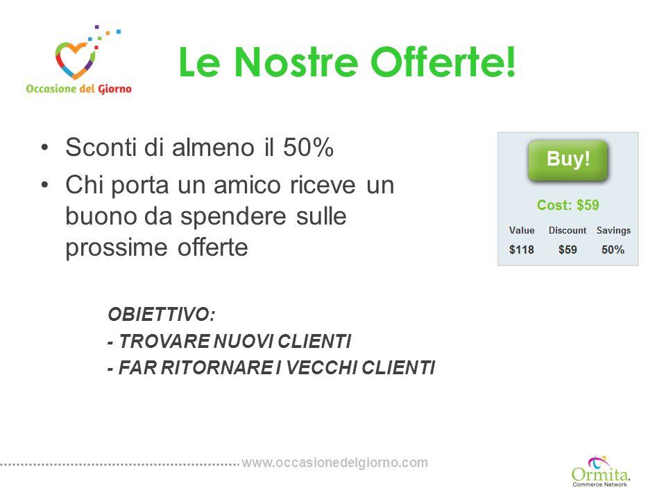 www.occasionedelgiorno.com USA Integrato con più di 70 siti di media.