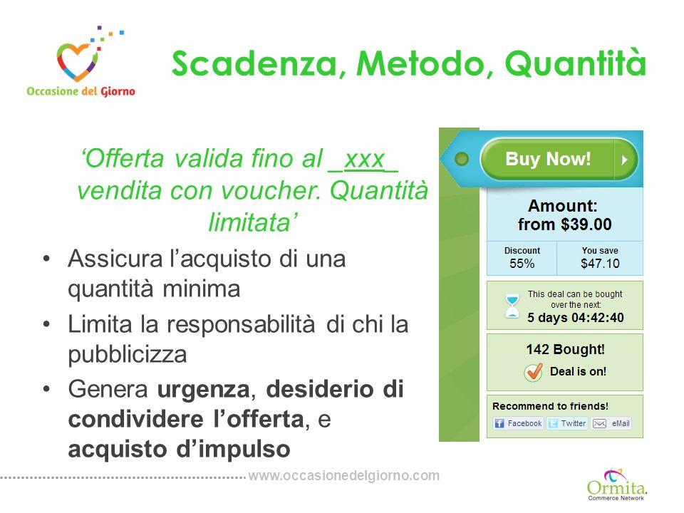 www.occasionedelgiorno.com Programma di Sponsorizzazione Promuovete le offerte di Occasione del Giorno Questo programma vi è stato offerto da Occasione del Giorno.