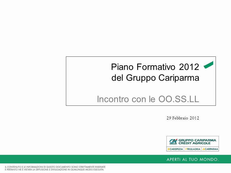 Piano Formativo 2012 del Gruppo Cariparma Incontro con le OO.SS.LL 29 Febbraio 2012