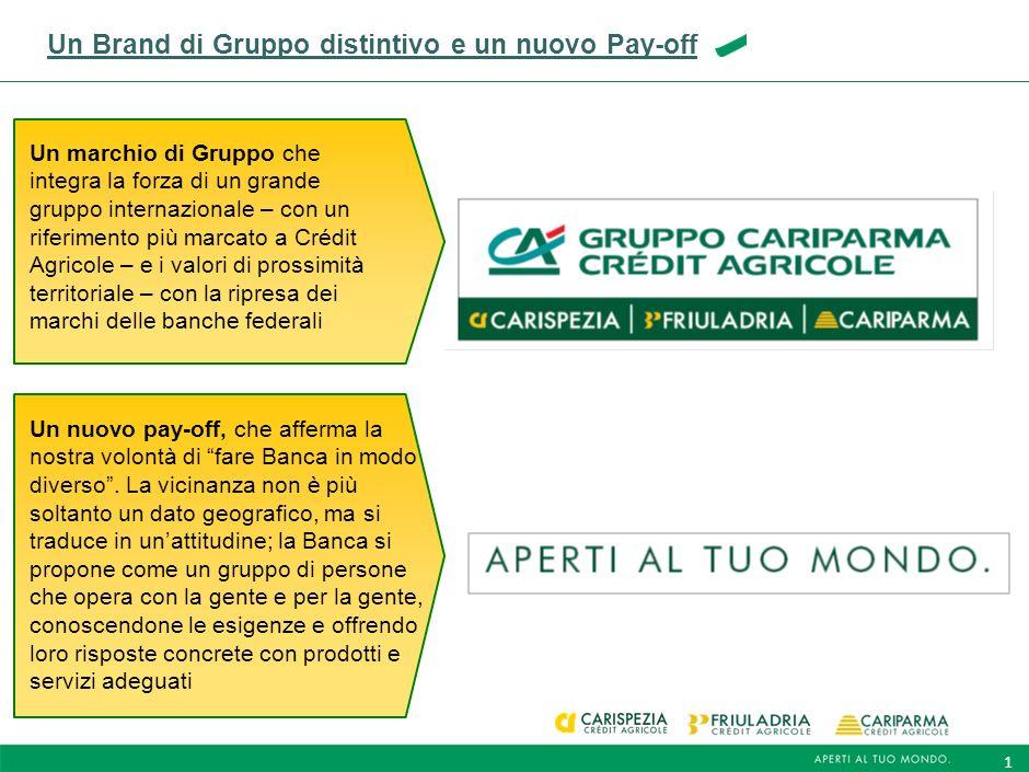 1 Un Brand di Gruppo distintivo e un nuovo Pay-off Un nuovo pay-off, che afferma la nostra volontà di fare Banca in modo diverso.