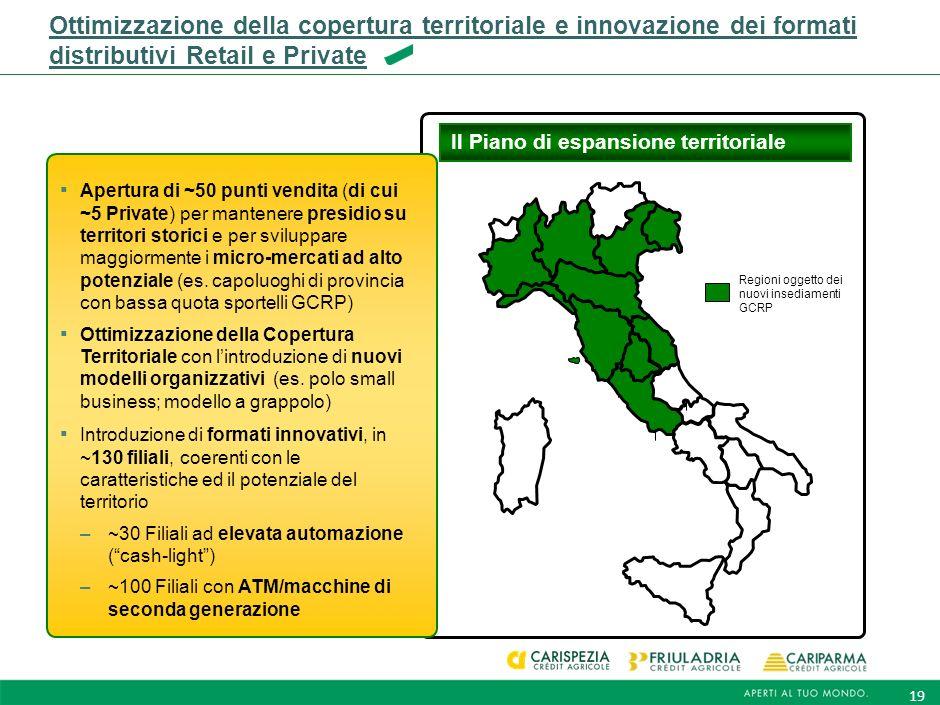 18 Un importante piano dinvestimenti a supporto degli obiettivi di crescita e sostenibilità Totale investimenti nell'orizzonte di Piano Investimenti n