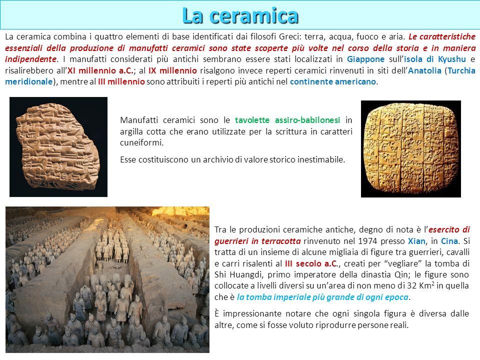 Manufatti ceramici sono le tavolette assiro-babilonesi in argilla cotta che erano utilizzate per la scrittura in caratteri cuneiformi. Esse costituisc