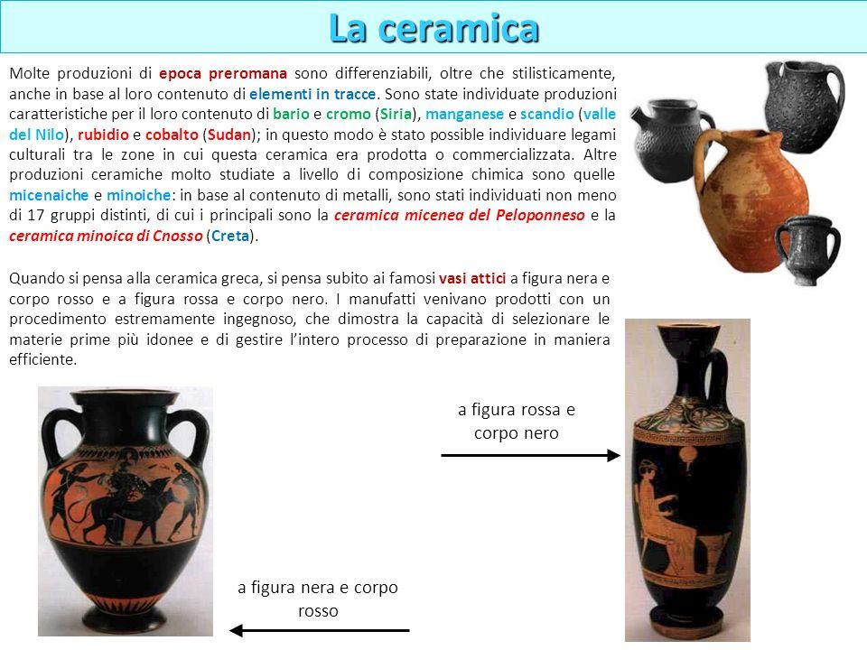 Molte produzioni di epoca preromana sono differenziabili, oltre che stilisticamente, anche in base al loro contenuto di elementi in tracce. Sono state