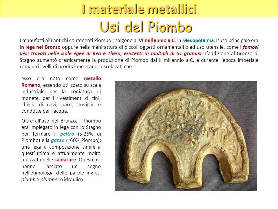 esso era noto come metallo Romano, essendo utilizzato su scala industriale per la coniatura di monete, per i rivestimenti di tini, chiglie di navi, ba