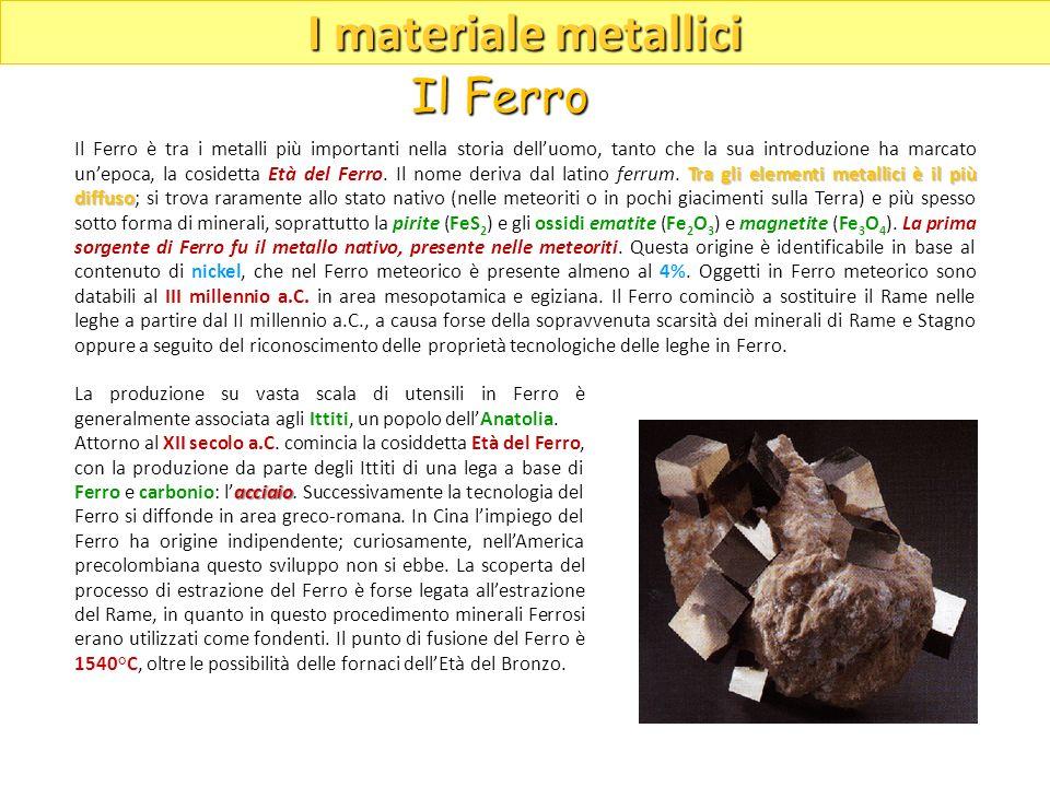 La produzione su vasta scala di utensili in Ferro è generalmente associata agli Ittiti, un popolo dellAnatolia. acciaio Attorno al XII secolo a.C. com