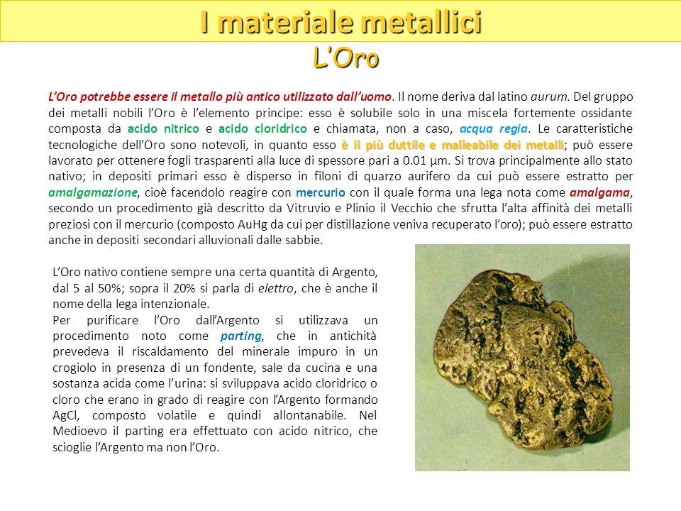 è il più duttile e malleabile dei metalli LOro potrebbe essere il metallo più antico utilizzato dalluomo. Il nome deriva dal latino aurum. Del gruppo