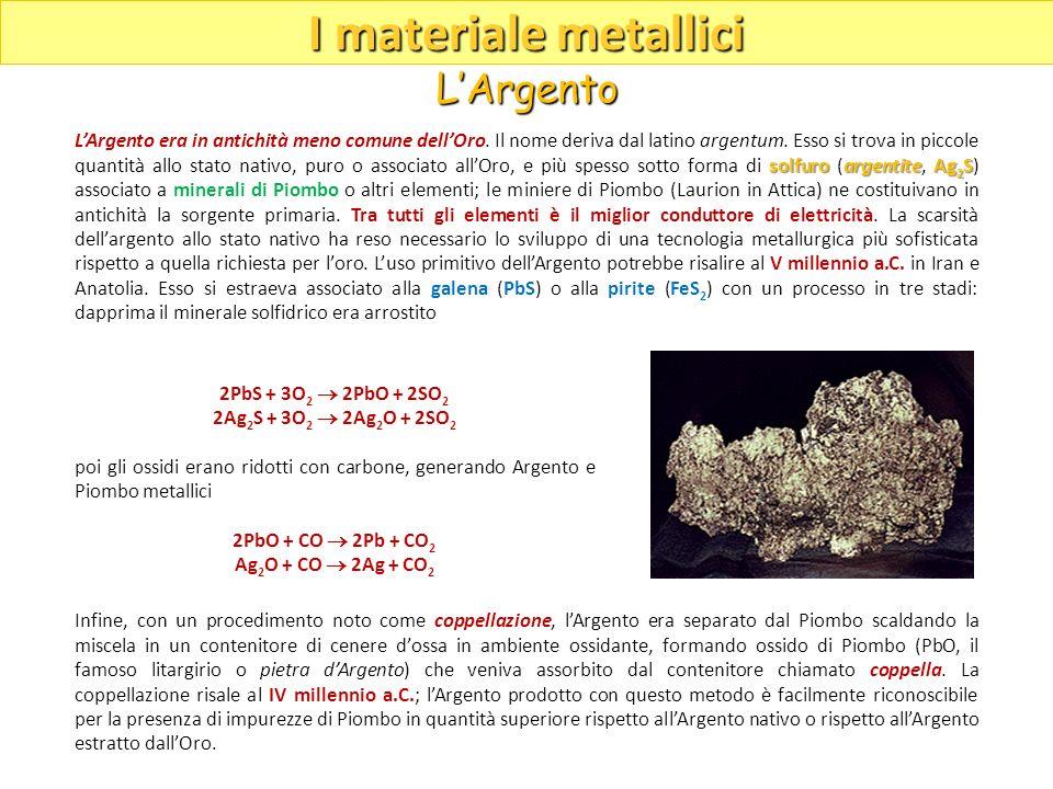 solfuroargentiteAg 2 S LArgento era in antichità meno comune dellOro. Il nome deriva dal latino argentum. Esso si trova in piccole quantità allo stato