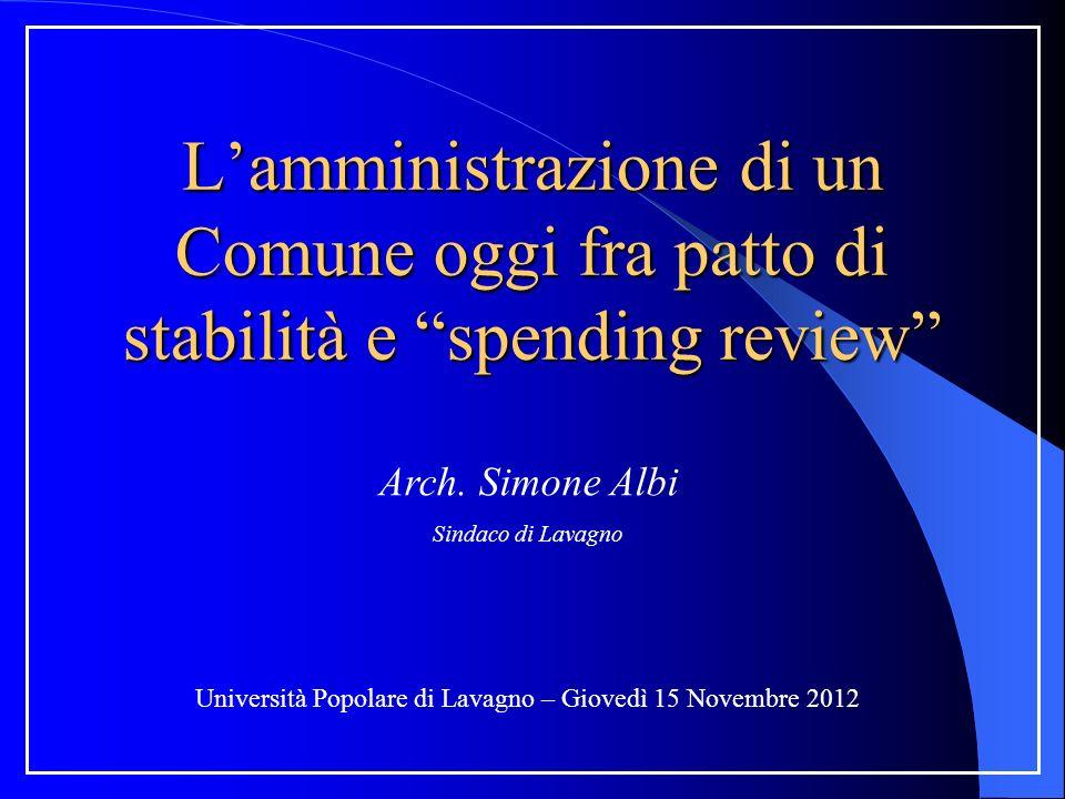 Università Popolare di Lavagno – Giovedì 15 Novembre 2012 Arch.