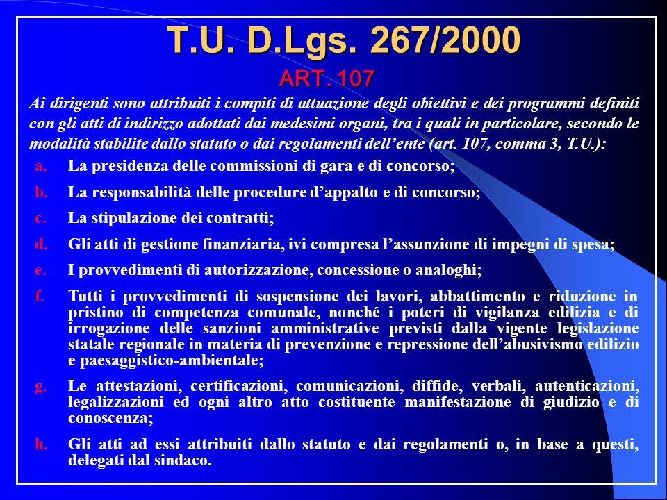 T.U. D.Lgs. 267/2000 ART.
