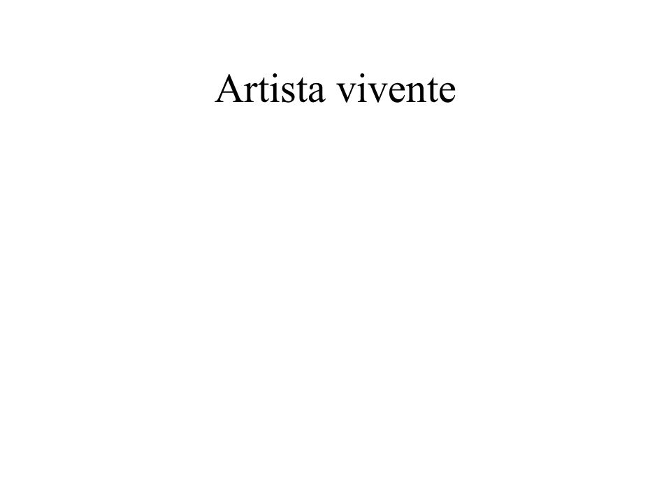 Artista vivente