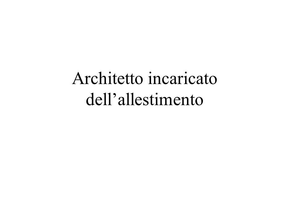 Architetto incaricato dellallestimento