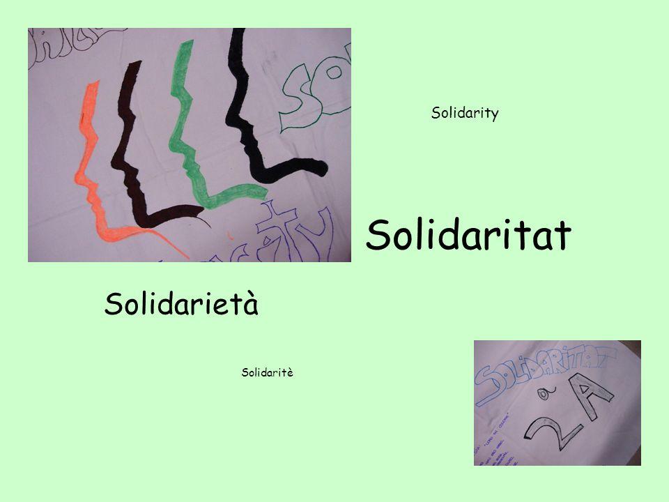 c s Solidarietà Solidarity Solidaritat Solidaritè
