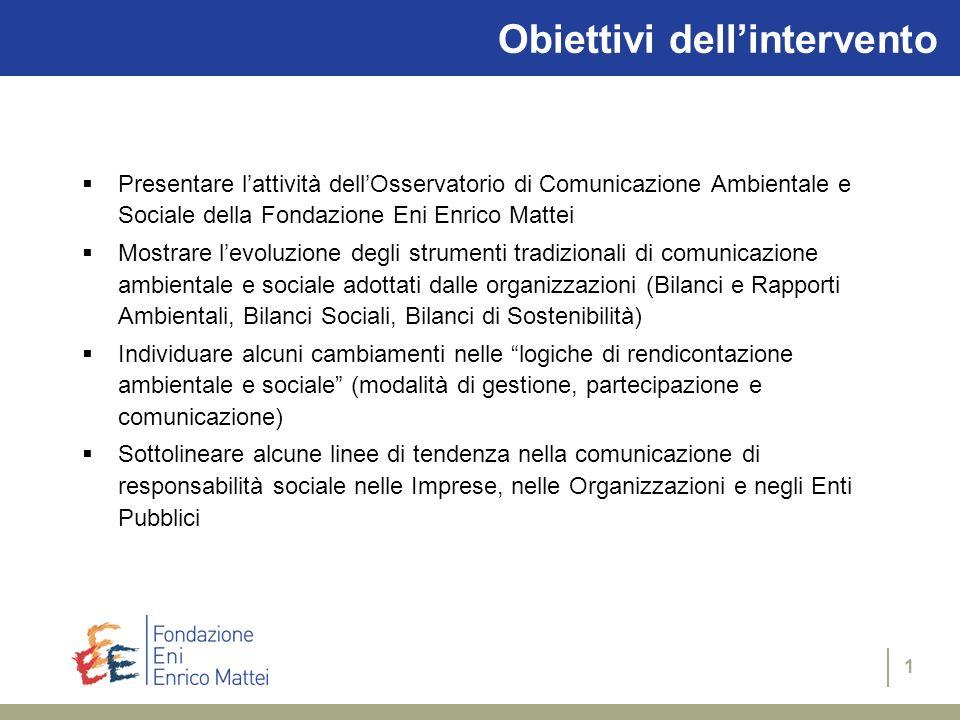 di Sabina Ratti e Ilaria Lenzi Bologna, 19| 01 | 05 Comunicare la responsabilità sociale Lesperienza dellOsservatorio di Comunicazione Ambientale e So