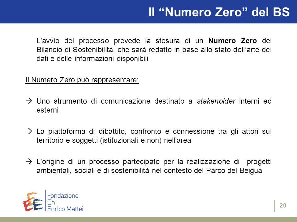 19 Il Progetto PARCO Obiettivo generale del Progetto = sviluppare metodologie di comunicazione e rendicontazione ambientale e sociale per le Aree Prot