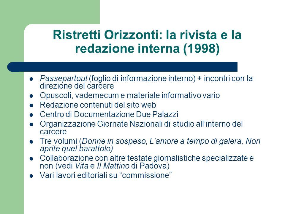 www.ristretti.itwww.ristretti.it (2001) Portale di informazione sul carcere: ca.