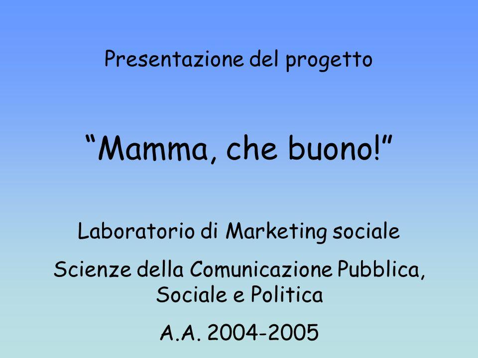 Presentazione del progetto Mamma, che buono.
