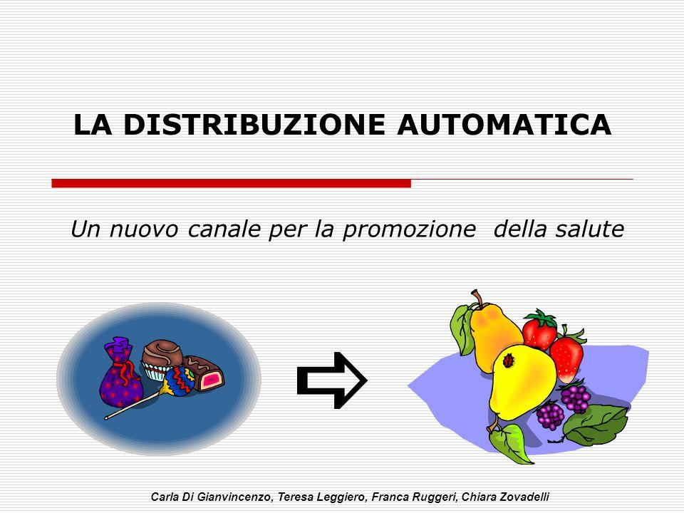 LA DISTRIBUZIONE AUTOMATICA Un nuovo canale per la promozione della salute Carla Di Gianvincenzo, Teresa Leggiero, Franca Ruggeri, Chiara Zovadelli