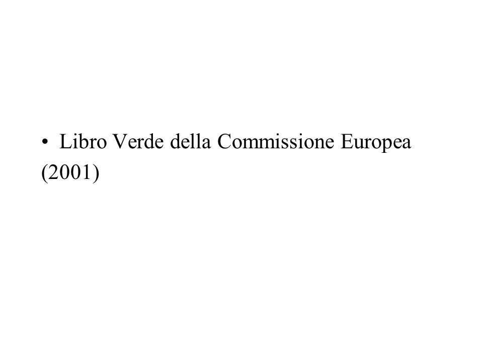 Libro Verde della Commissione Europea (2001)