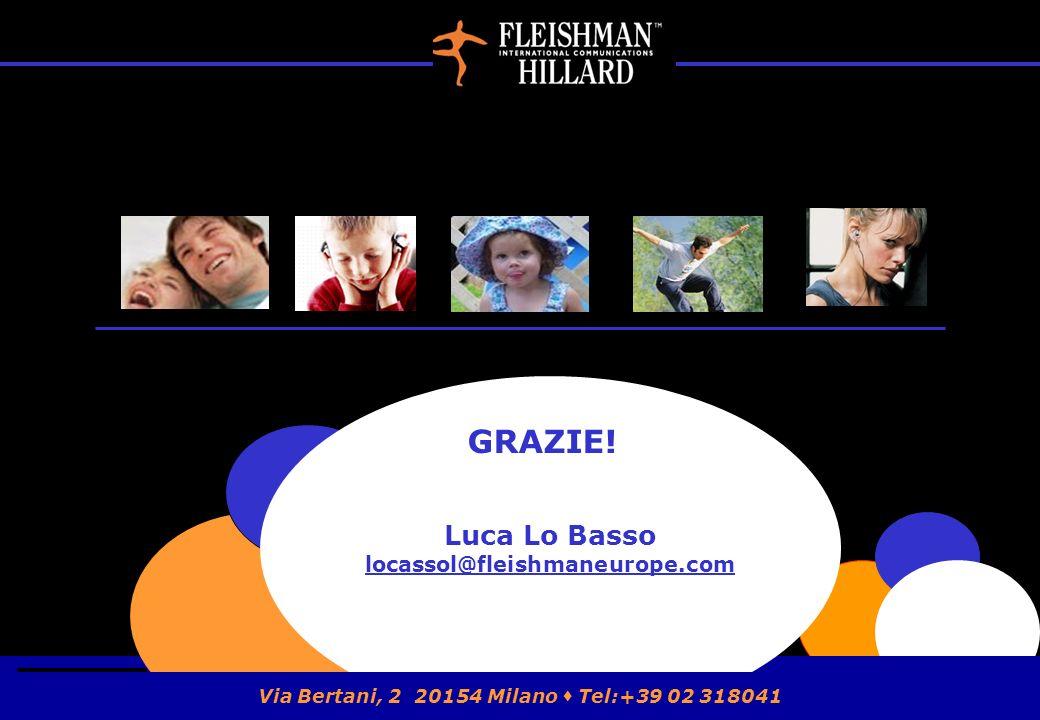 Luca Lo Basso locassol@fleishmaneurope.com GRAZIE! Via Bertani, 2 20154 Milano Tel:+39 02 318041